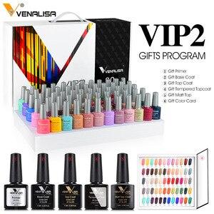 Image 4 - Venalisa KIT de Gel de Gel professionnel pour Nail Art, 60 couleurs, vernis de Base/dessus, acrylique, tenue longue durée, #61508