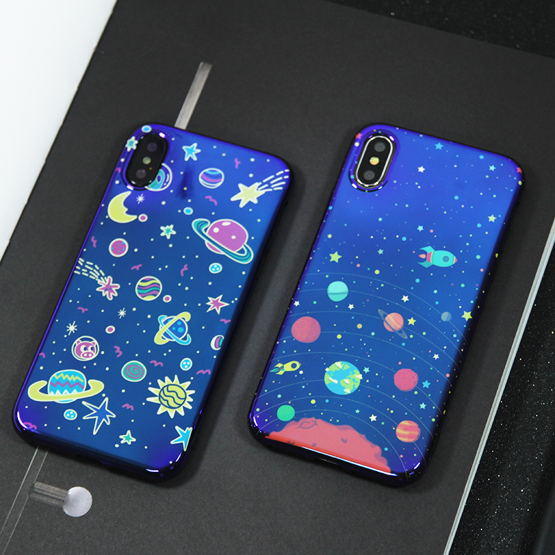 Cartoon universe Planet phone Case for iphone 11 11Pro Max X XR XS Max blu ray soft silicone Case For iphone 6 6s 7 8 7Plus image