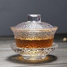 Ручная работа Термостойкое стекло Gaiwan в японском стиле кунг-фу чаша для чая экологичный портативный чайный набор, стекло чайник 130 мл