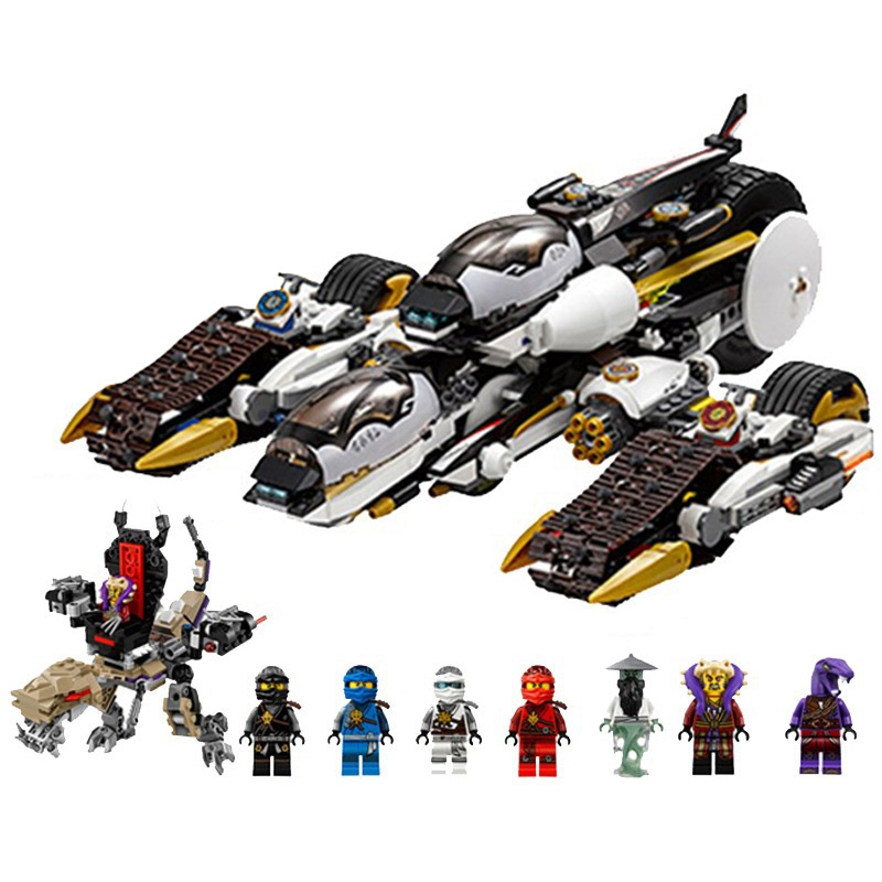 1135pcs Ninja Ultra Stealth Raider Building Blocks Lepined Ninjagoes 70595 Bricks Toys For Children Gift