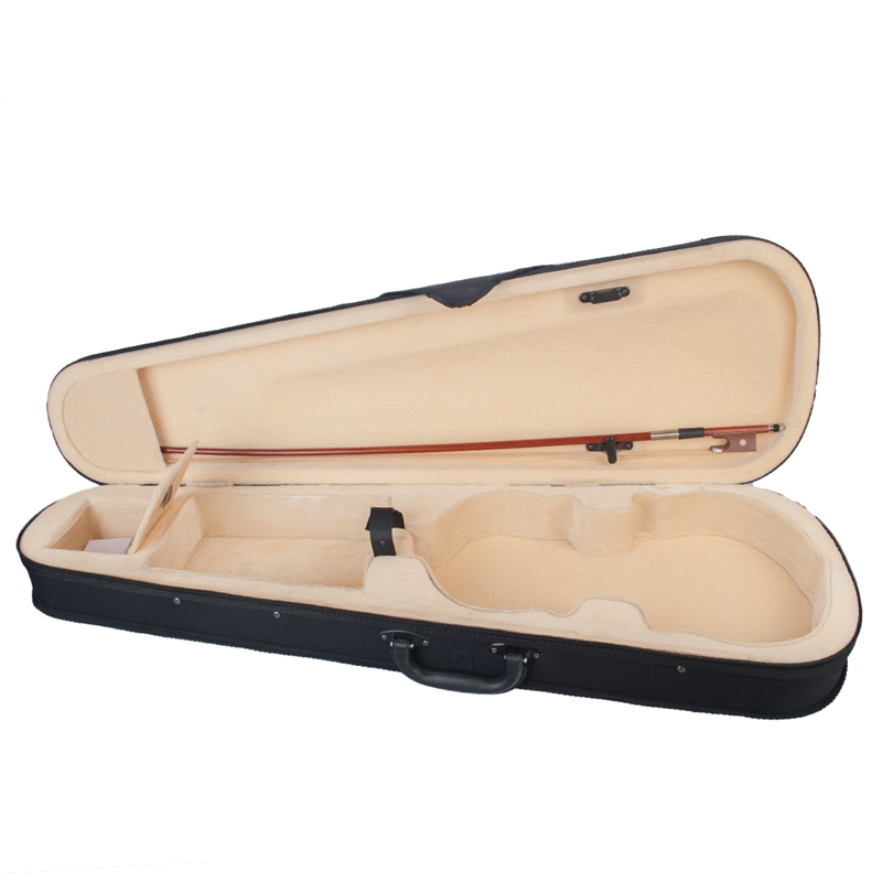 Violin Case Size Professional Triangular Shape Violin Hard Case Yellow Inside Violin Parts