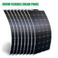 Гибкая солнечная панель 100 Вт Супер тонкая панель Солнечная 12 в 800 Вт 1000 Вт Зарядное устройство для RV/Фонари вентилятора