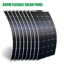 800w panel solar 1000w 2pcs 4pcs 6pcs super thin 12v panneau solaire flexible charger for rv lights fan