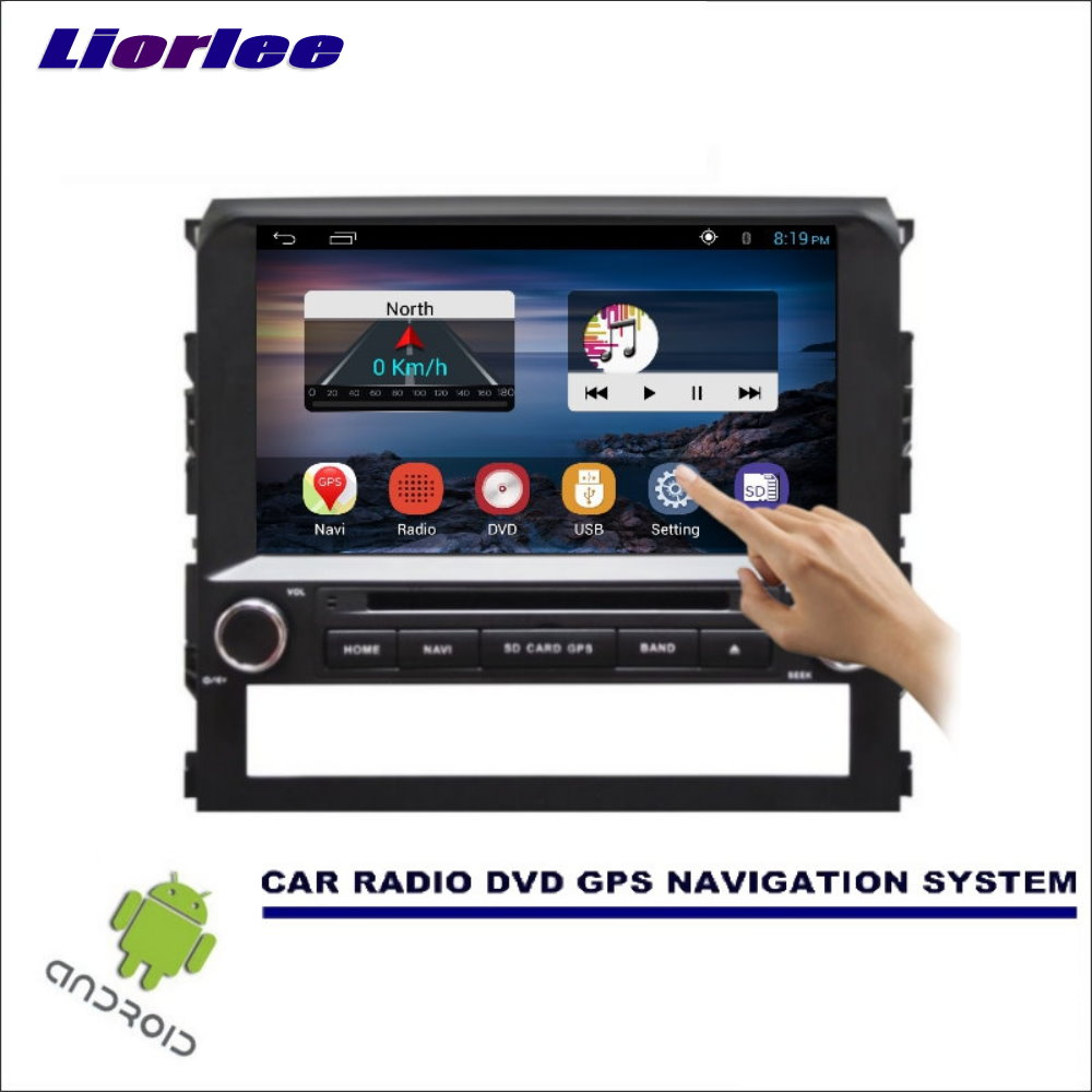 Liorlee For <font><b>Toyota</b></font> <font><b>Land</b></font> <font><b>Cruiser</b></font> <font><b>LC200</b></font> 2016 Car DVD Player GPS Navi Navigation <font><b>Android</b></font> System Radio Stereo Audio Video Multimedia image