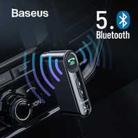 Baseus Auto Aux Bluetooth 5,0 Adapter Wireless 3,5mm Audio Empfänger für Auto Bluetooth Car Kit Lautsprecher Kopfhörer