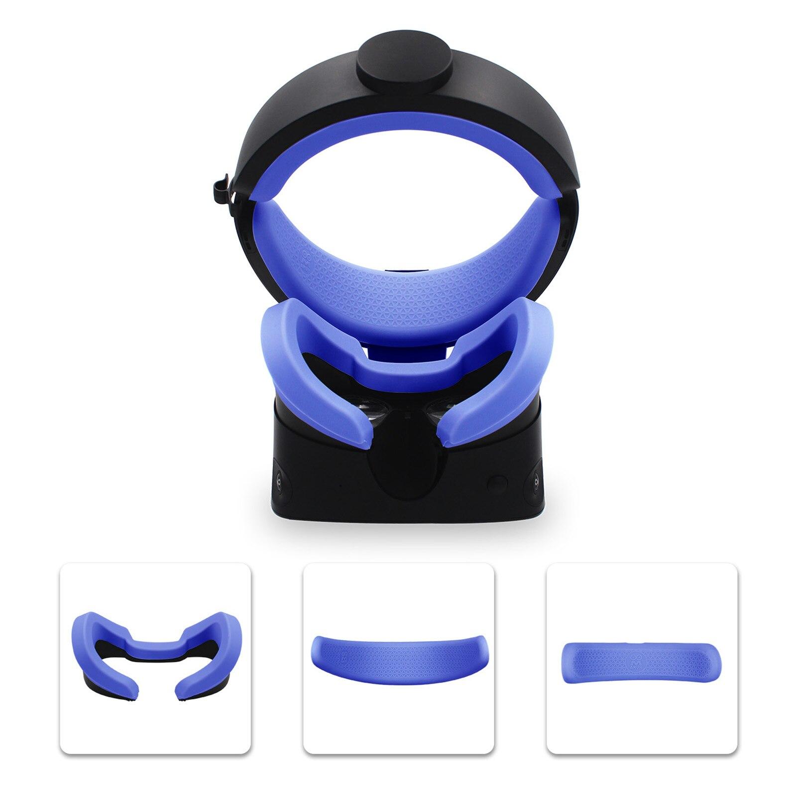 Novo 3 in1 vr face pad & frente traseira espuma silicone capas para oculus rift s vr óculos máscara de olho rosto da pele rift s acessórios