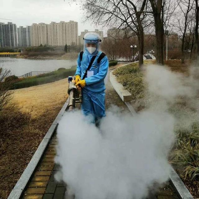 Портативный термогенератор для дезинфекции, аэрозольный распылитель, противовирусная дезинфекция