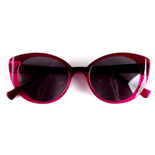 Gafas de sol con protección UV para mujer, 100% de acetato italiano a la moda de París