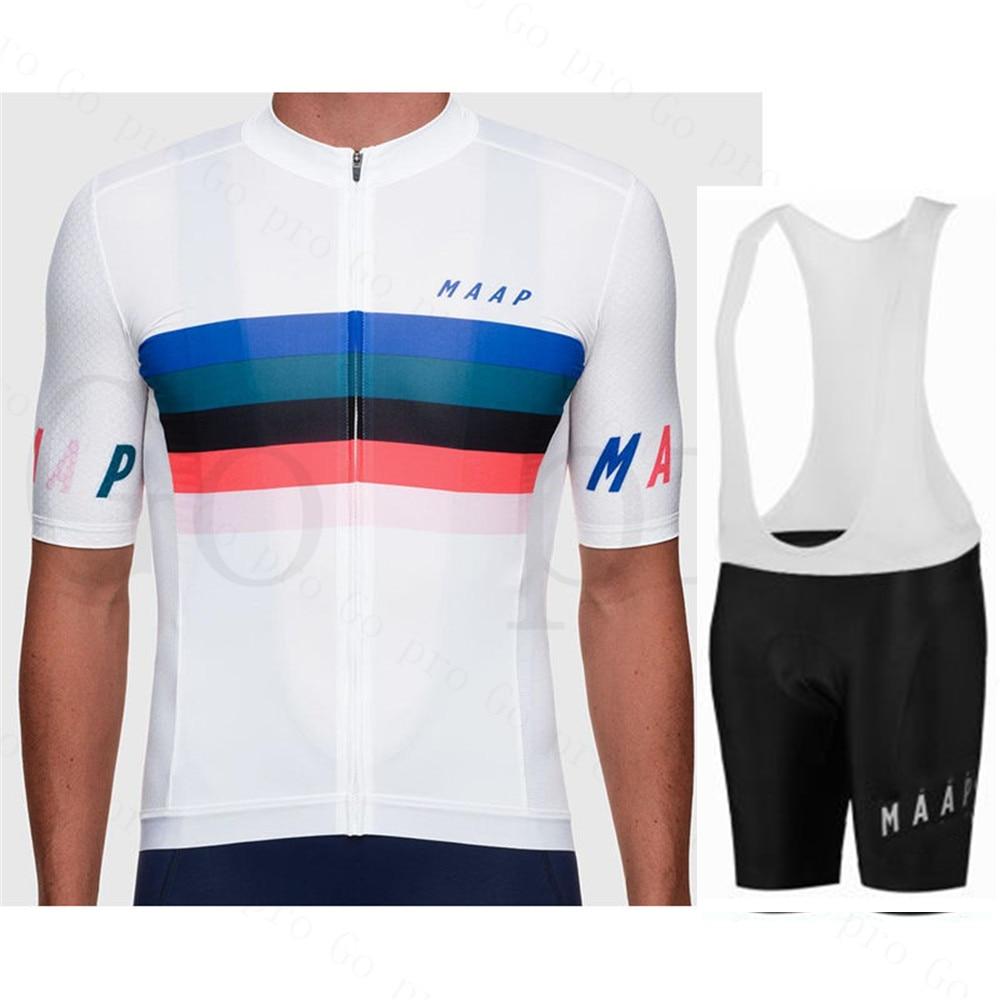 New 2020 Maap Cycling Jersey Set Men Summer Short Sleeve Tops Breathable Bicycle Cycling Clothing Bib Shorts Sport Wea Raphan