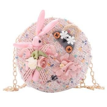 Pretty Princess-bolso para pañales de Frozen, para niños, con monedas de dibujos animados, bolsa Elsa, bolso de hombro para niña, paquete de regalo, bolsa de mensajero redonda
