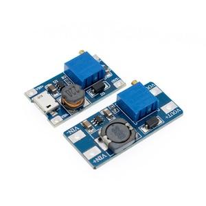 Image 1 - 50 個 1 個 MT3608 2A 最大 DC DC ステップアップ電源モジュールブースター電源モジュール 3 5 に 5 V/9 V/12 V/24 V