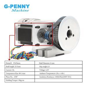 Image 4 - Cabezal divisorio CNC de 4 mandíbulas, 100mm, eje de rotación + 4 ejes, kit de eje A para Mini enrutador CNC/grabado en madera