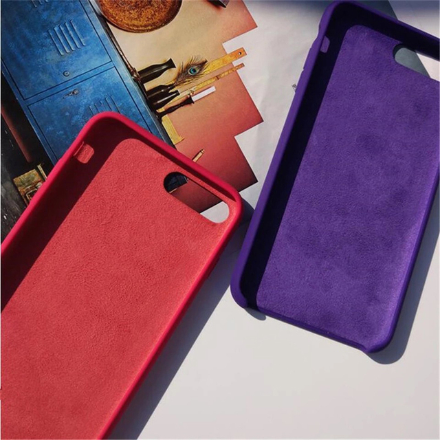 Official Original Silicone Case For iPhone 7 8 Plus X XS Max XR 6 6S 12 Pro Case For iPhone 11 Pro Max SE 2020 Cover 5