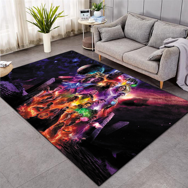 New Superman/Batman/US Captain/The Avenger Thick Carpet Mat for Living Room Doormat Flannel Print Bedroom Non-slip Floor Rug 022