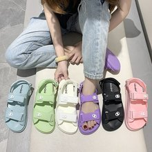 Women Sandals Rubber Summer 2020 New Girls Casual Flat Platform Candy Color Clos