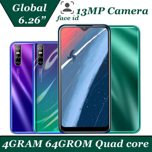 Note 8t Water drop screen 19:9 64G ROM Smartphones Android Quad core 13MP Camera 6.26'' 4G RAM Face ID unlocked mobile phones