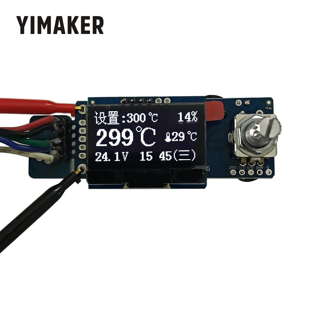 YIMAKER New T12 OLED Digital Soldering Iron Station Temperature Controller STC English Display Board Without Acrylic Board