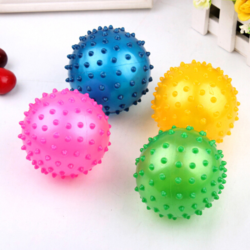 16/18/22cm Baby Soft Squeeze Bouncing Fidget Development Sensory Educational Toy Inflatable Rubber Ball For Children Infant Gift