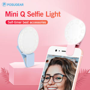 Posugear Clip-Lamp Ring-Light Selfie Mini Portable for Phone Enhancing LED Photography