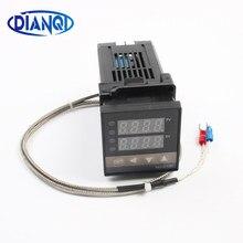 Contrôleur de température numérique PID économique, type K, entrée relais à semi-conducteurs SSR, sortie relais REX C100