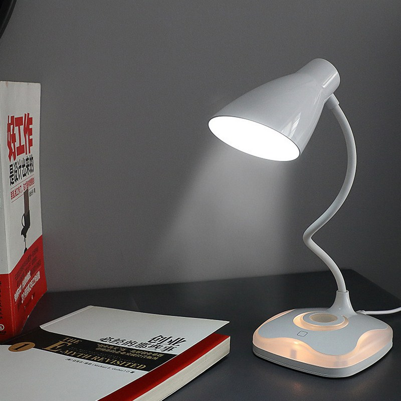 LED Four-leaf Clover Sensor Desk Light Eye-Protection Lamp Flexible Night Lighting Table Lamp With USB Cable For Study