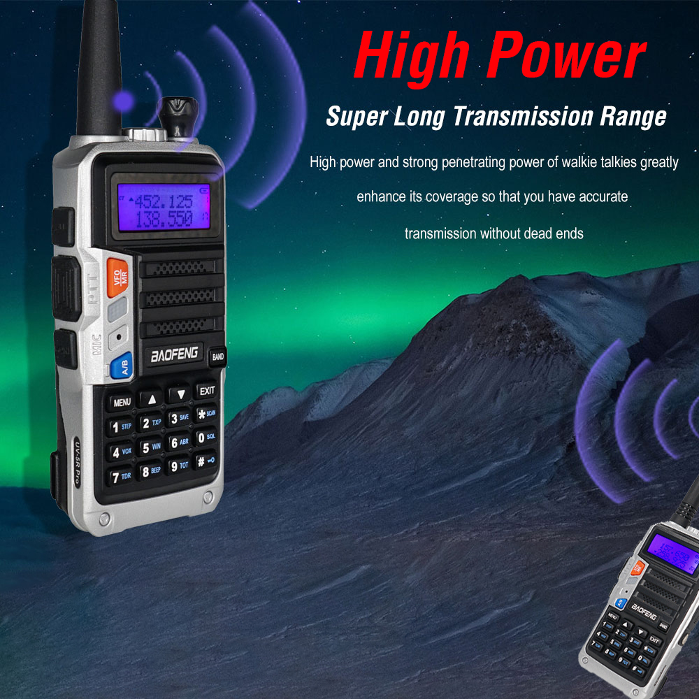 2pcs tri band baofeng uv 5r pro walkie talkie 04