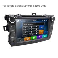 8 inch 2 DIN Car Mp5 DVD Player Radio Multimedia for Toyota Corolla E140/150 2008 2009 2010 2011 2012 2013 Stereo GPS 2din