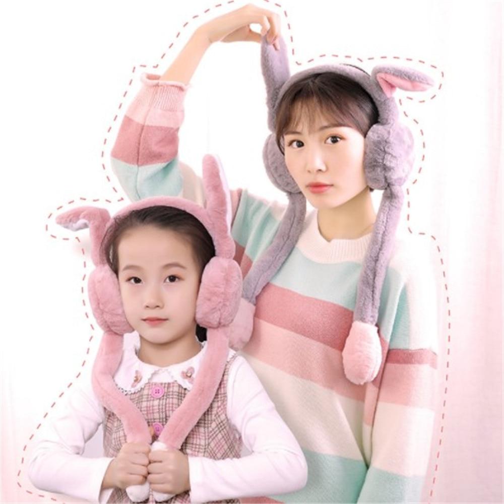 New Fashion Cute Dance Rabbit Ears Plush Earmuffs Comfortable Warm Earmuff Female Winter Outdoor Protect Ears Winter Accessories