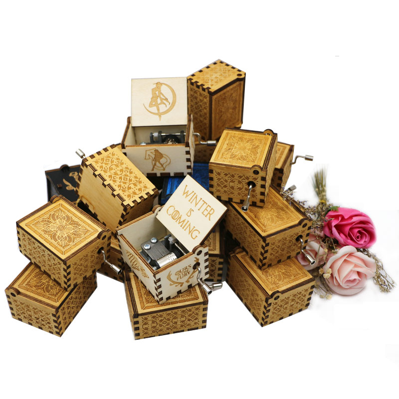 Music box student movement DIY game 18 sound best sound mechanical music box with screw home decoration