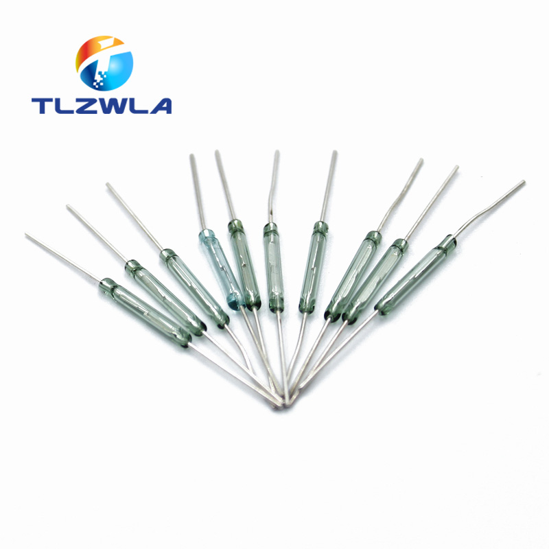 10 шт. MKA-14103 тон провода стекло N/O SPST геркон переключатель 10-15AT 2x14 мм