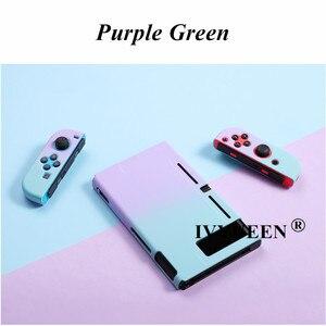 Image 4 - IVYUEEN renkli koruyucu sert çanta Nintendo anahtarı NS konsolu için yeşil Nintendo anahtarı Joy Con Joy Con geri kabuk kapak