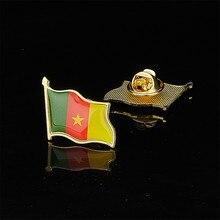 País africano la República de Camerún nacional bandera para agitar Pin broche insignia chapada en oro joyería hebilla bandera solapa sombrero corbata Pin