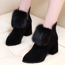Women Winter Shoes Winter Autumn Women Botas Shoes Casual Women High Heels Pumps Warm Ankle Boots Mujer Zapatos цена
