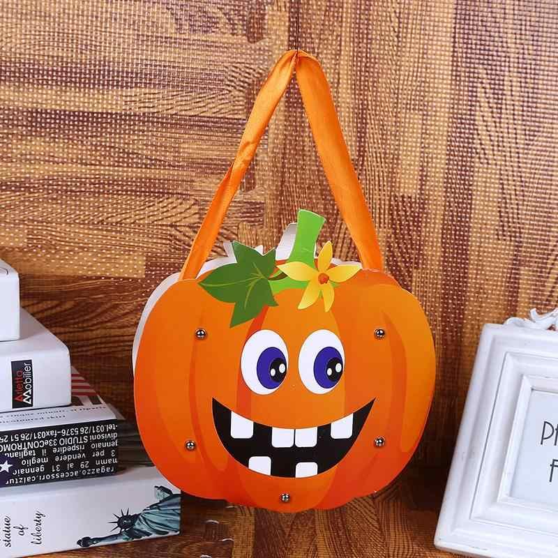 Halloween Tote Decorazioni Del Partito Sacchetto di Carta Zaino Portatile Sacchetti di Caramelle Dei Bambini Del Fumetto Zaini Tote Bag Per Le Ragazze I Regali Dei Ragazzi