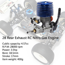 SH28 Rear Exhaust RC Nitro Gas Engine 4.57CC for HSP HPI RedCat Racing 1/8 Monster Buggy Truggy Truck Drift Car