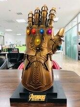 HCMY Thanos Infinity Gauntlet Full Metal 1:1 Wearable Cosplay Glove Statue W/ Stand base LED In Stock metamorphosed base metal sulphide deposits in rampura agucha india