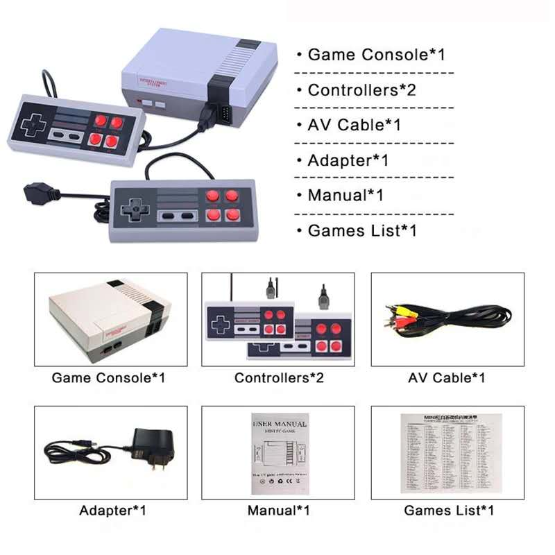 Built-In 620 Games Mini TV Game Console 8 Bit Retro Classic Handheld Gaming Player AV Output Video Game Console Toy