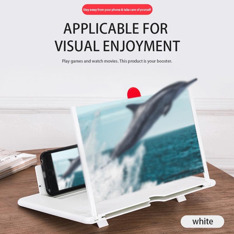 3D телефон экран мобильного телефона усилитель лупа стекло HD 12-дюймовый стенд для складного экрана видео увеличенные глаза держатель защита