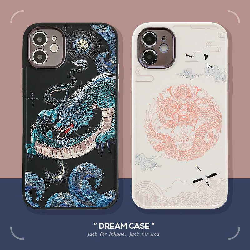 Custodia per telefono cinese Red Dragons per iphone 12 mini 11 Pro ...
