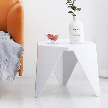 Nordic simple modern living room, bedroom corner, small family sofa, creative personality, special-shaped mobile tea table