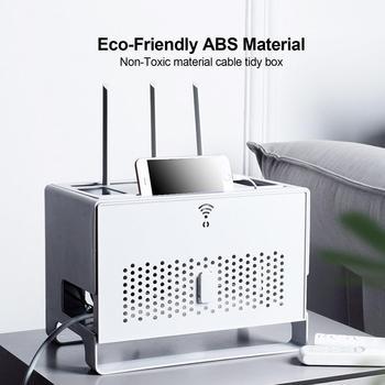 Router wi-fi schowek o dużej pojemności Organizer do kabli Box gniazdo telewizor-górne pudełka USB huby schowek pulpit narzędzie do organizowania tanie i dobre opinie CN (pochodzenie) Nowoczesne lakier SQUARE