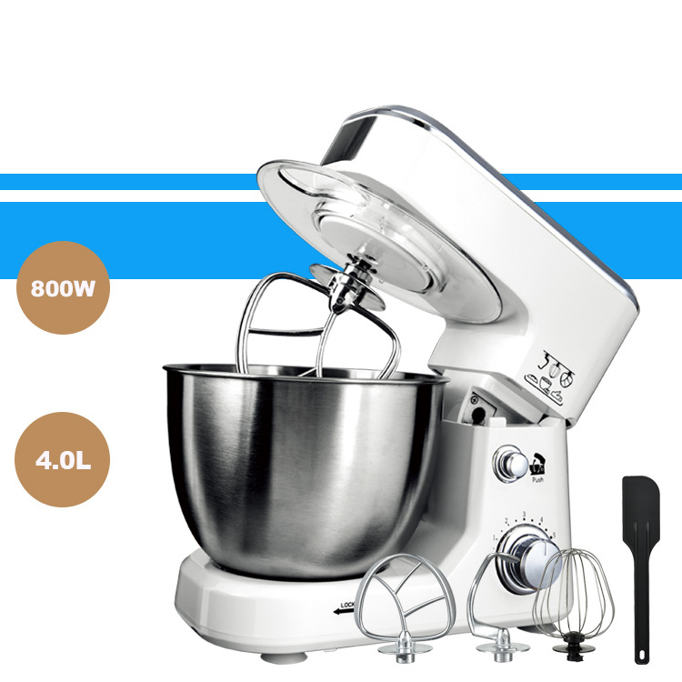 Home Stainless Steel 800W Multifunctional Dough Mixer Household Electric Food Mixer 4L Egg Cream Salad Beater Cake Mixer
