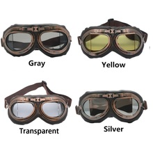 Goggles Glasses Motorcycle Retro For  Helmet Pilot Cruiser Riding Classic Aviator Harley Protection Vintage