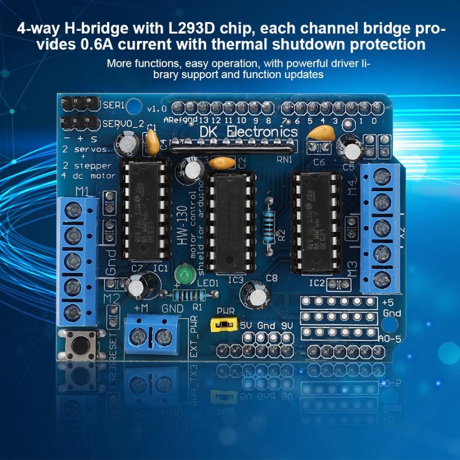 Module de carte dextension de pilote de moteur multifonctionnel pour Arduino/Arduino Mega 2560 pour Diecimila pour Duemilanove