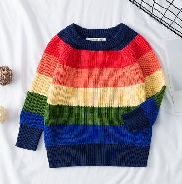 1-6Yrs New 2020 Boy Girl Long Sleeve Loving Heart Knitted Sweater Autumn Winter Boys Girls Sweaters For Baby Girls Kids Sweater 19