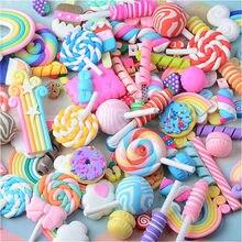 Mélange de bonbons/sucettes en argile polymère, 20/30 pièces, accessoires, Figurines, bricolage, artisanat, coque de téléphone, Patch, Arts, matériaux de remplissage, jouets visqueux