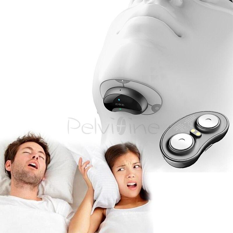 Inteligente Solução confortável anti Ronco Snore Stopper Anti Ronco ronco Biosensor com sucedâneo do APLICATIVO e monitor de apneia do sono CPAP
