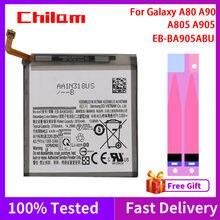 Batterie de téléphone 100% d'origine, pour Samsung Galaxy A80 A90 A805 A905, capacité de 3700mAh