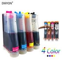 DMYON Ink Supply System CISS Ersetzen für HP564 CISS Photosmart C6340 C6350 C6380 B209a 3070A 3520 3522 Officejet 4620 4622