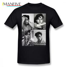 Cole Sprouse T Shirt Collage B W T-Shirt Male Cotton Tee Classic Printed Fun Plus size Short-Sleeve Tshirt